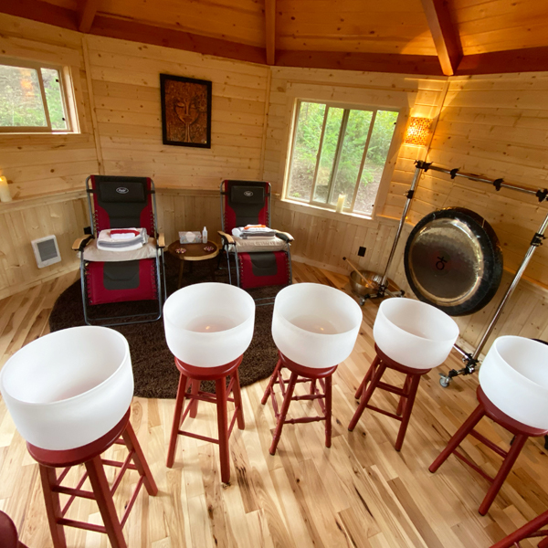 NW Vibrational Sound Therapy Crystal Bowl Sound Bath Experience