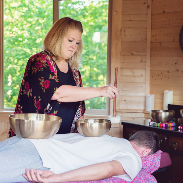 Michelle Davis of NW Vibrational Sound Therapy